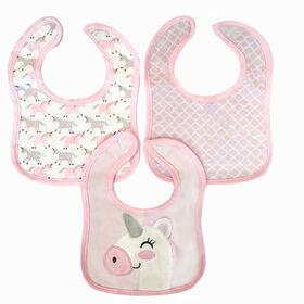 Koala Baby - 3 Pack Pink Unicorn 3D Jersey