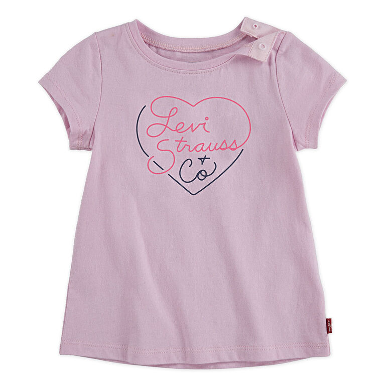 Levis Graphic Tee - Pink, 24 months