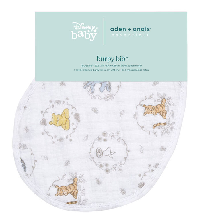 Aden Essentials - Disney-Winnie+Friends-Single Burpy Bib