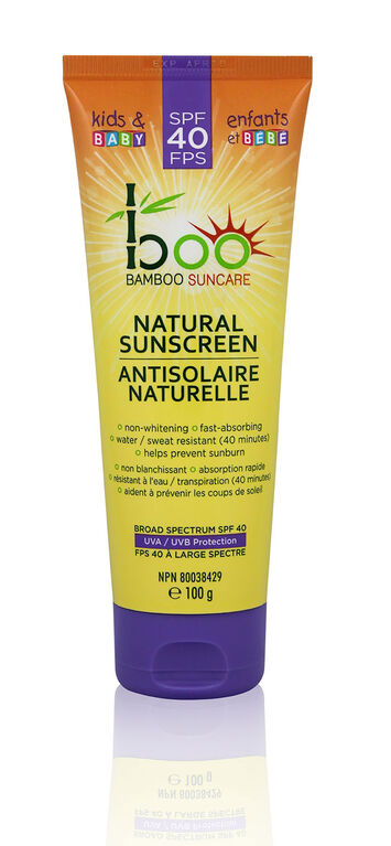 Boo Bamboo Antisolaire Naturelle FPS 40.