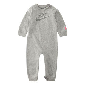 Nike Coverall - Grey, 0-3 Months