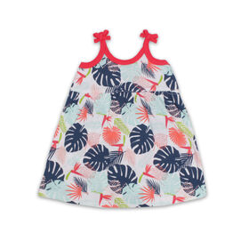 Snugabye Sleeveless Skirted Romper - Leaf - White, 6-9 Months