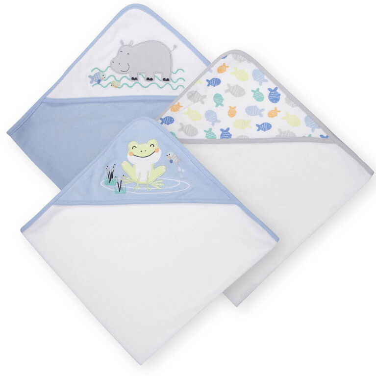 Koala Baby 3-Pack Hooded Towels, Boy