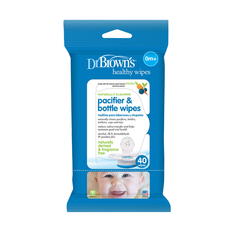Dr. Brown's Pacifier and Bottle Wipes 40-Pack