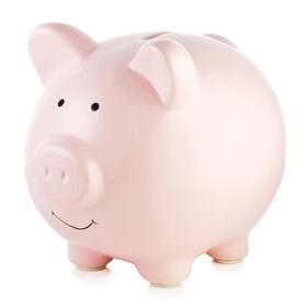 Pearhead Ceramic Piggy Bank - Pink