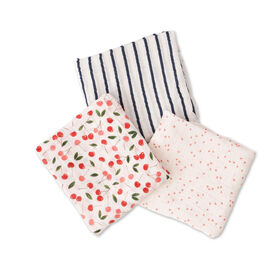 Red Rover - Cotton Muslin Swaddle 3 Pack -Cherries - R Exclusive
