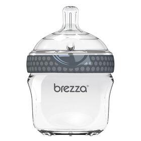 Baby Brezza Glass Bottle 5 oz. - Grey