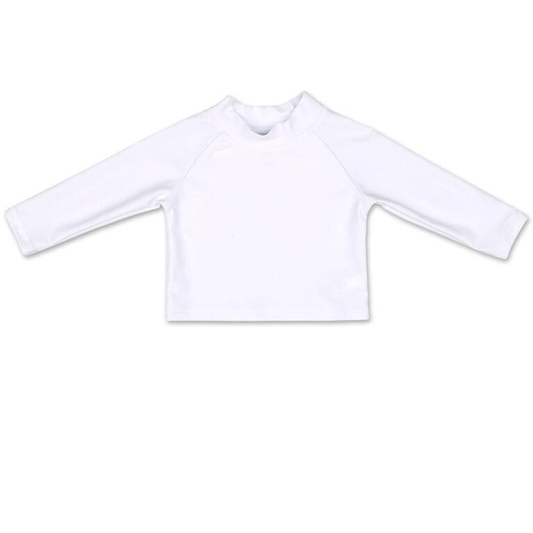 Tee-shirt dermoprotecteur Koala Baby manches longues blanc uni, 12 mois