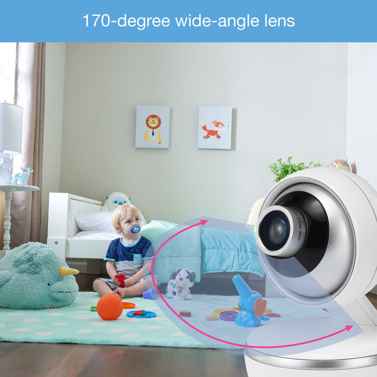 VTech VM5261 - 5 Pan & Tilt Video Monitor with Wide Angle Lens and Standard Lens