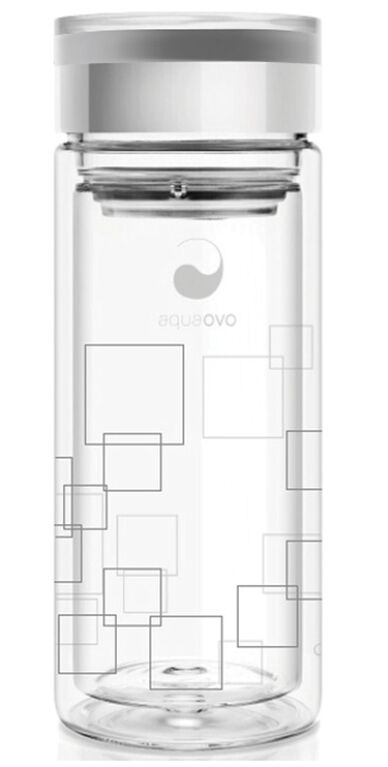 Aquaovo Infusseur de thé en verre double mur.