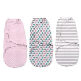 Summer Infant SwaddleMe Original Swaddle - Small/Med - 3 Pack - Pink Whales