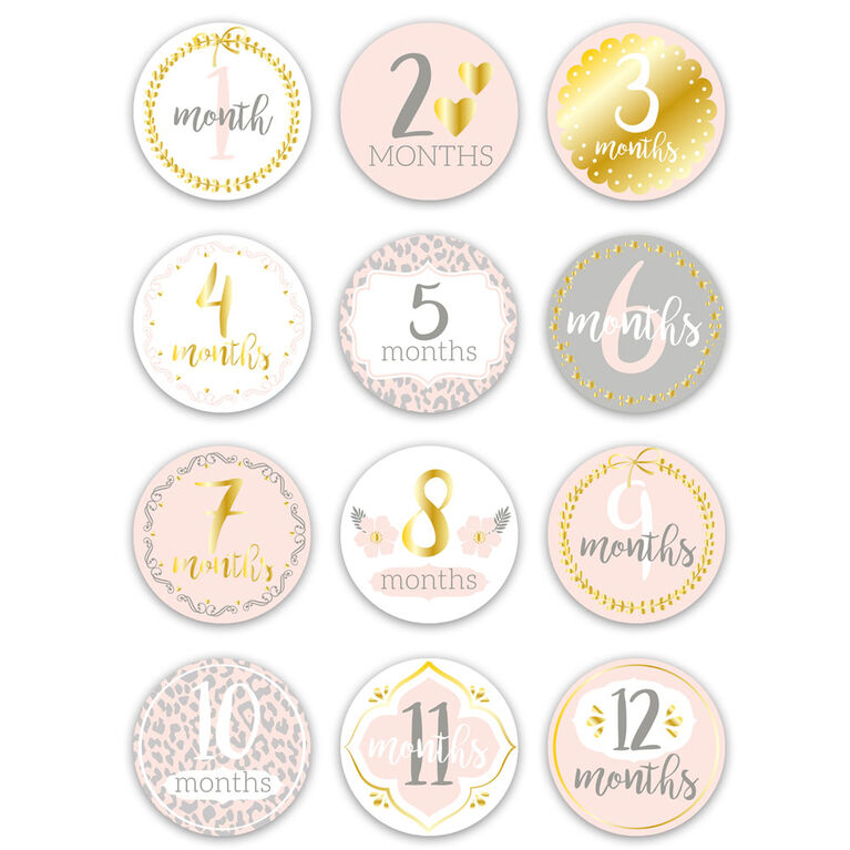 The Peanutshell Baby Monthly Stickers