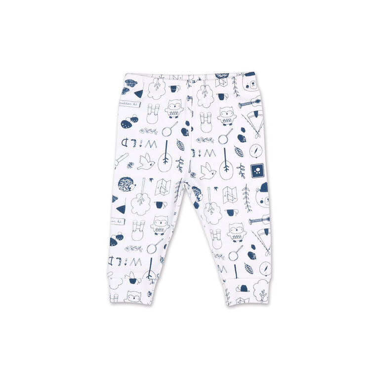 Koala Baby Nature's Calling Short sleeve Bodysuit/Printed Jogger 2 Piece Set, 12 Month
