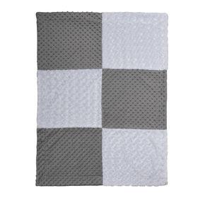 Koala Baby Patchwork Baby Blanket-Grey And White