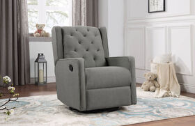 Lennox Furniture Fauteuil berçant pivotant inclinable Capri Gris