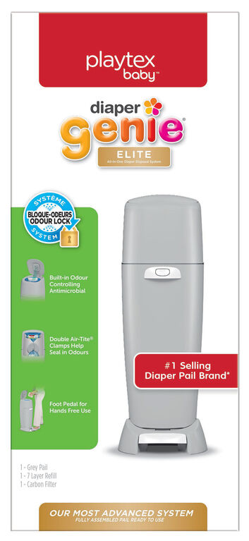 Playtex Diaper Genie Elite - gris.