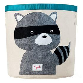 3 Sprouts Storage Bin Raccoon - Grey