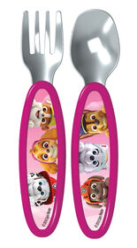 Playtex Paw Patrol Fork & Spoon Cutlery Set - Pink