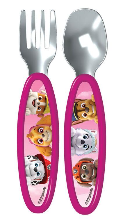 Playtex Paw Patrol Fork & Spoon Cutlery Set - Pink