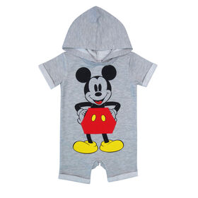 Disney Mickey Mouse Romper - Grey, 6 Months