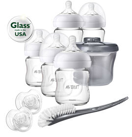 Philips Avent Natural Glass Bottle Baby Newborn Starter Set