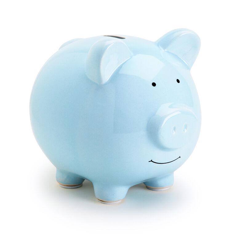 Pearhead Ceramic Piggy Bank Blue English Edition Babies R Us Canada