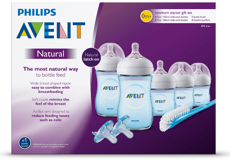 Philips Avent Natural Baby Bottle Blue Gift Set | Babies R ...