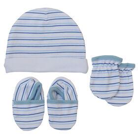Koala Baby bonnet, mitaines et chaussons Bleu, 3-6 mois