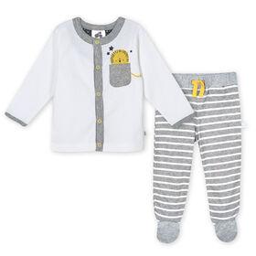 Just Born Baby Boys 3-Piece Organic Take Me Home Set - Lil Lion 6-9 Months