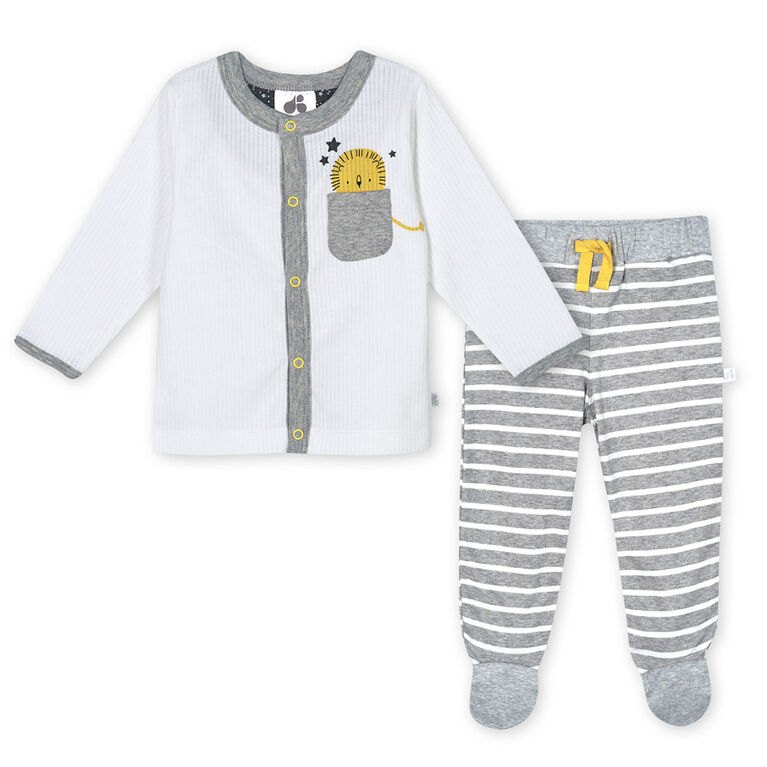 Just Born Baby Boys 3-Piece Organic Take Me Home Set - Lil Lion 6-9 Months