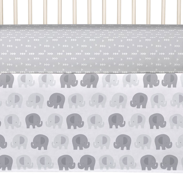 Lolli by Lolli Living 4pc Crib Bedding Set - Bailey Elephant
