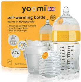 yoomi Feeding System - 8oz Easy-Latch™ Bottle with 2 Warmer and Quick Pod Recharger