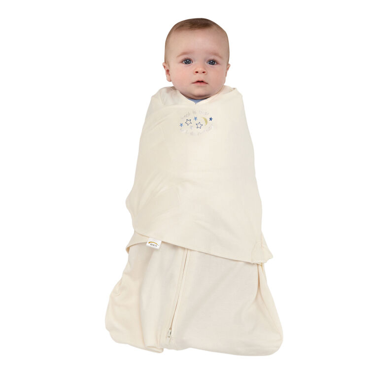 Halo SleepSack Cotton Swaddle Wearable Blanket - Cream - Newborn