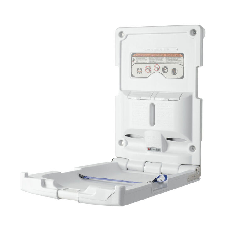 Foundations  Vertical Surface Mount Baby Changing Station (EZ Mount Backer Plate NOT Included)