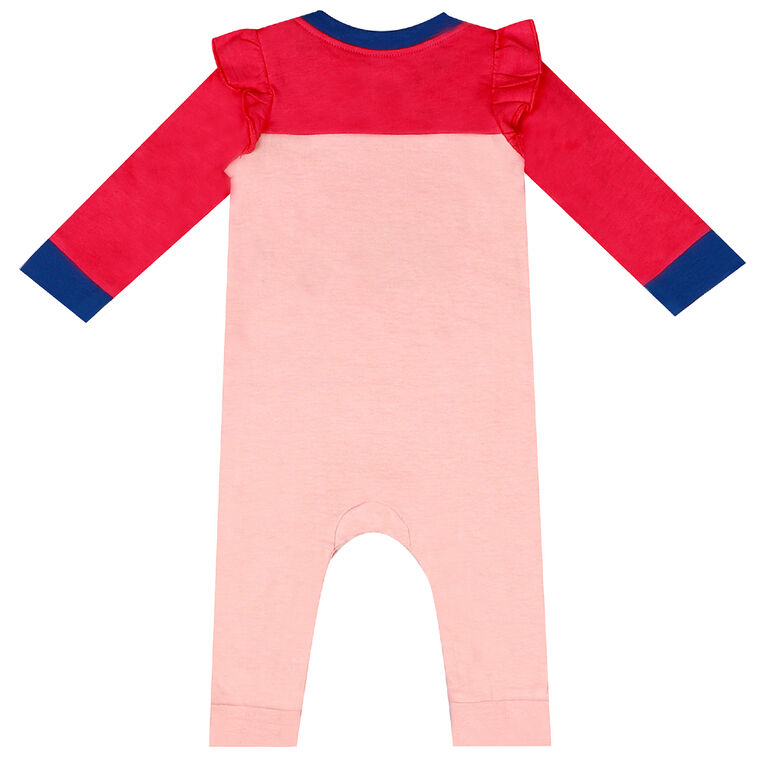 earth by art & eden - Maya Coverall Fleece Coverall - Crystal Rose, 9 Months