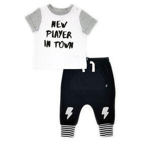 Mini Heroes Ensemble t-shirt et jogger -  nouveau née.