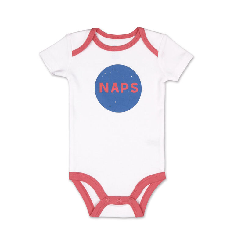 Koala Baby 4 Pack Short Sleeved Bodysuit, Dream Big, Newborn