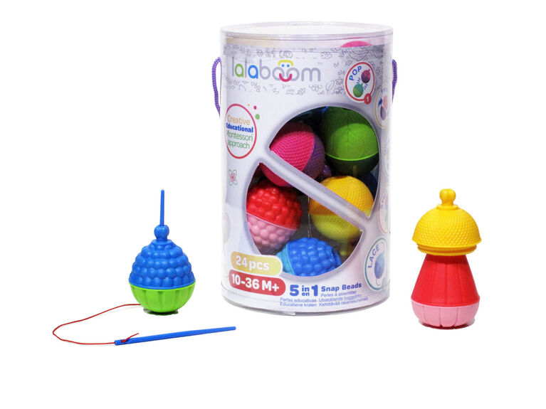 LALABOOM Educational beads 5 in 1 - Tube of 24 pcs ...