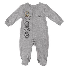 Fisher-Price 1-Piece Footed Sleeper - Grey, 9 Months