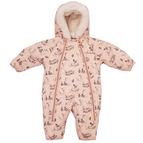 Baby Girl Bambi Quilted Puffer Snowsuit 6 Months