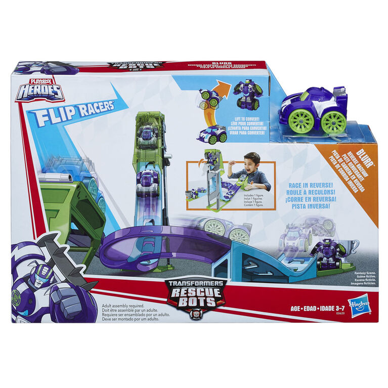 Playskool Heroes Transformers Rescue Bots Flip Racers - Blurr Piste renversante