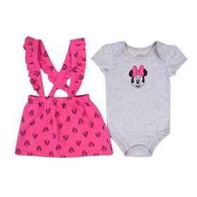 Disney Minnie Mouse Romper set - Pink, 12 Months