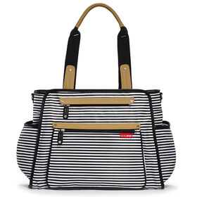 Skip Hop Grand Central Diaper Bag, Black & White Stripe
