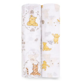 Aden Essentials - Disney 2-Packs Swaddle - Pooh