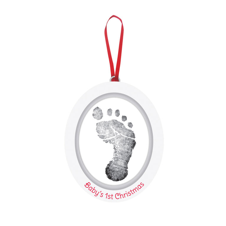 Baby's 1st Christmas Baby Print Ornament