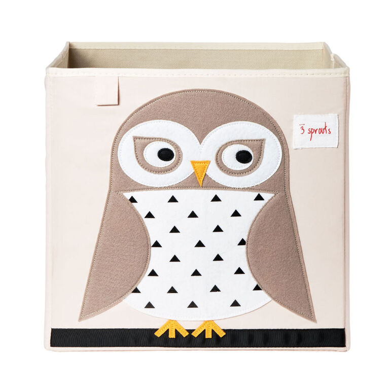 3 Sprouts Storage Box - Owl
