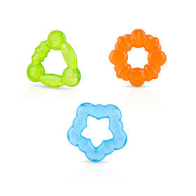 Nuby 3-Pack Ring Chill koolSoother Teether - Blue/Orange/Green