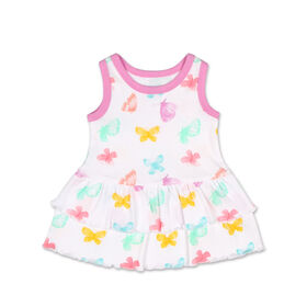 Koala Baby Sleeveless Butterfly Ruffle Skirt Dress - 6 to 12 months