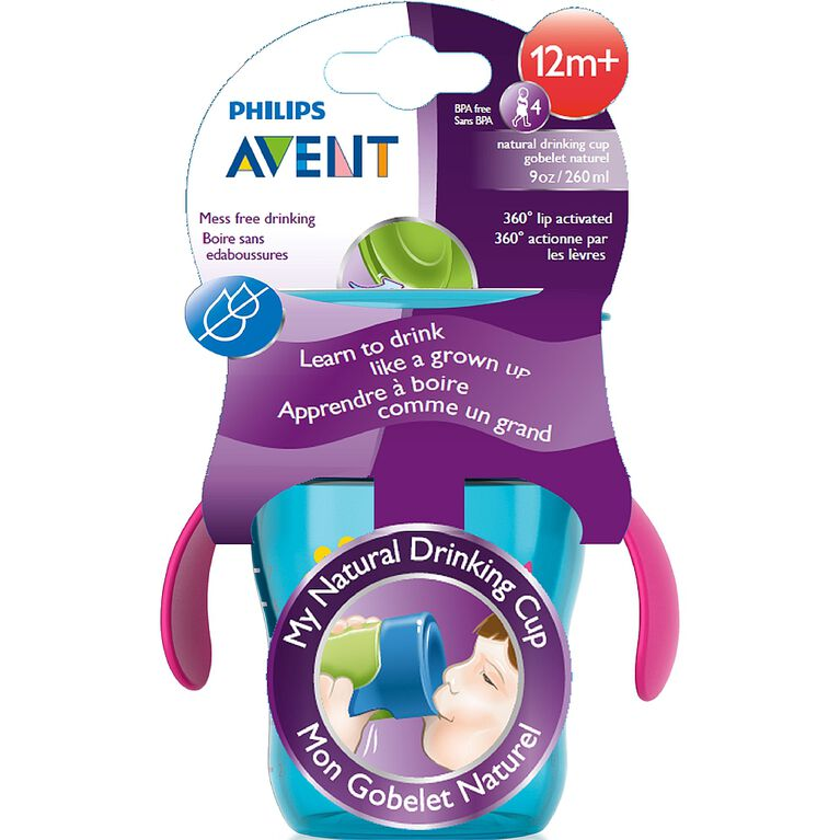 Philips AVENT Gobelets Naturel 9 oz - violet assortie.