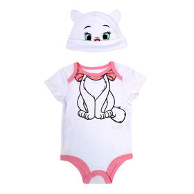 Disney Marie 2-Piece Bodysuit and Hat Set - Pink, 6 Months